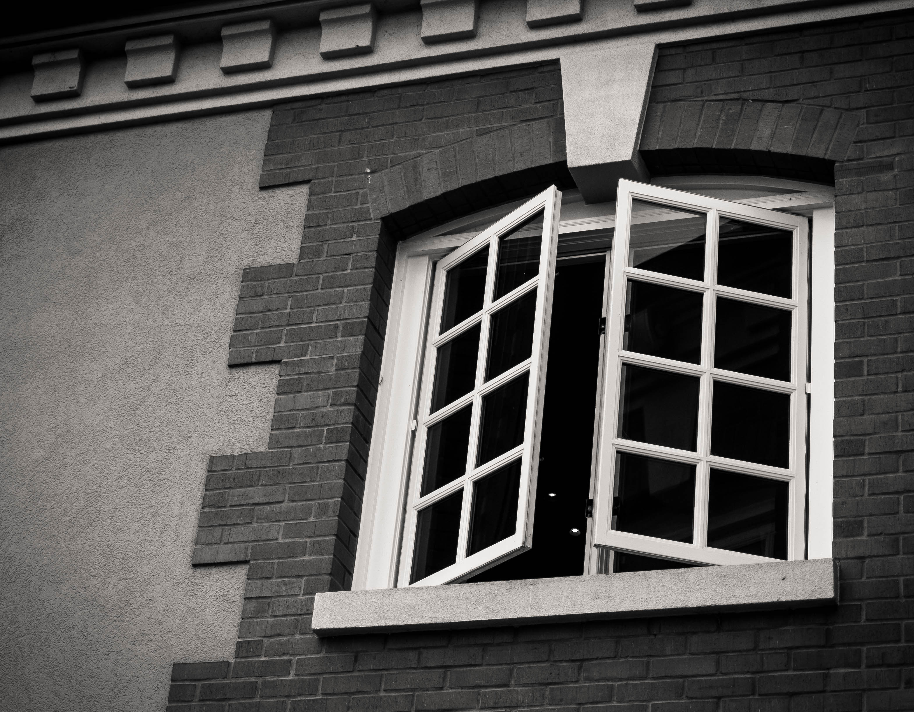 French windows at Domaine Carneros are let open to let the rain winds and smells waft in
