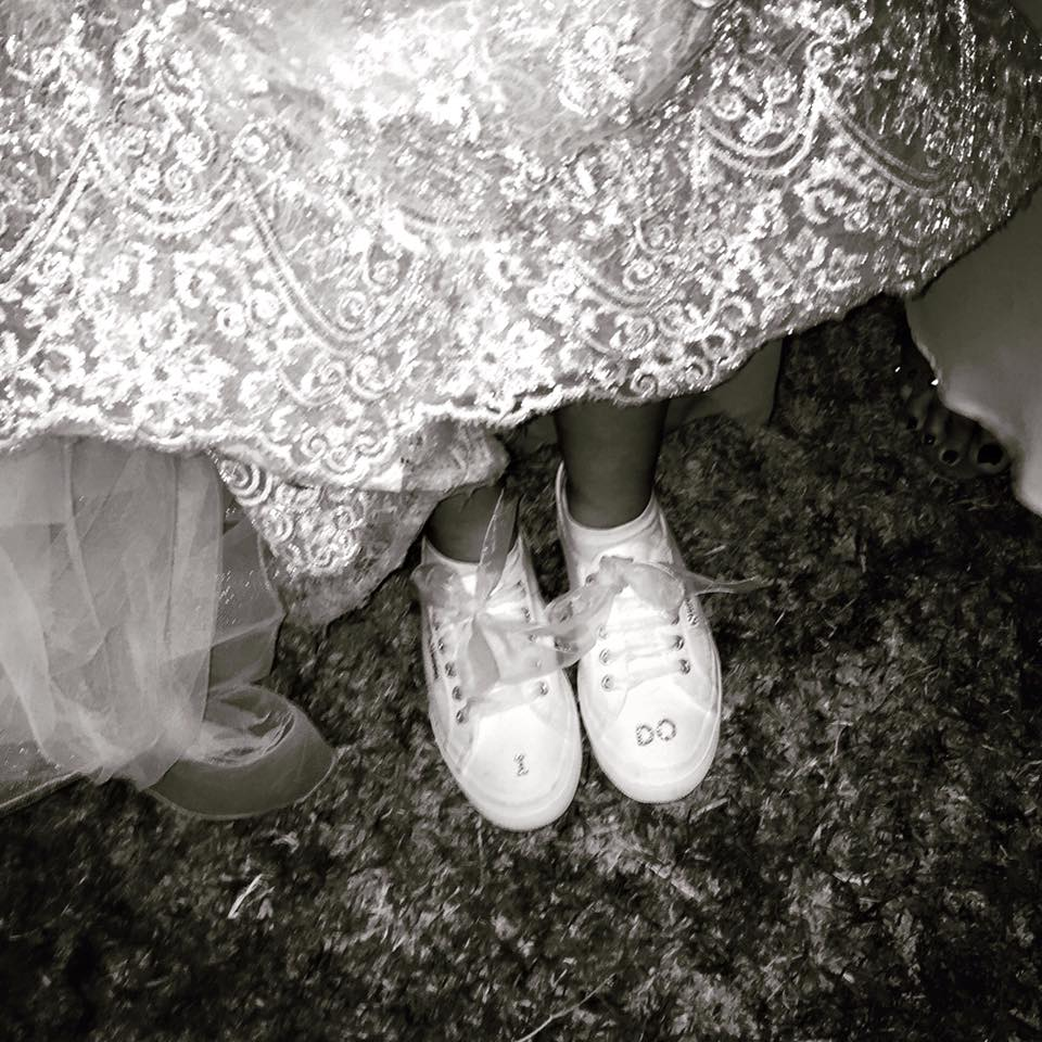 The Bride's Gorgeous Sneakers