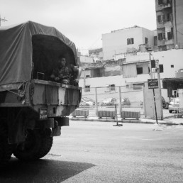 The Army still patrols the city of Beirut